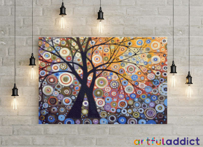 Psychedelic Trees - Artful Addict Paint By Numbers Kits