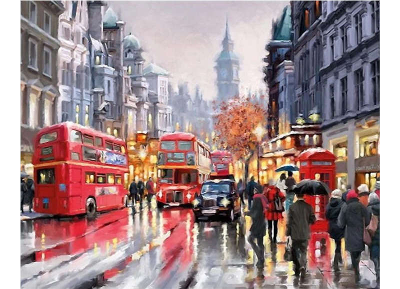 Rainy Day In London - Artful Addict Paint By Numbers Kits