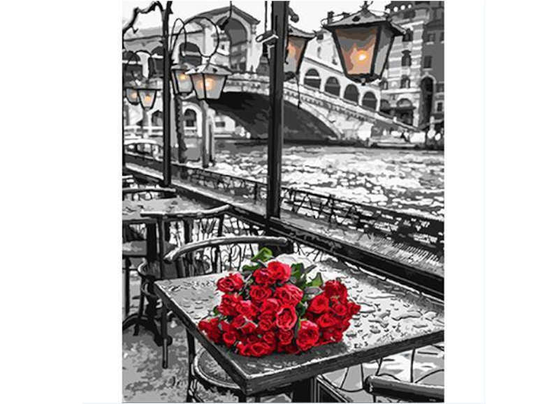 Roses In Venice - Artful Addict Paint By Numbers Kits