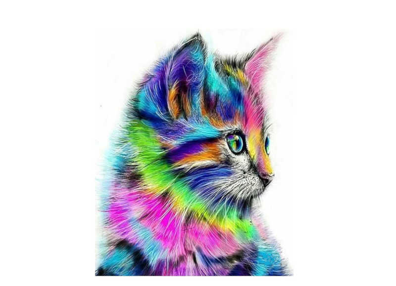Technicolor Kitten - Artful Addict Paint By Numbers