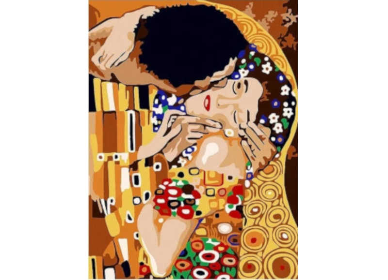 Gustav Klimt The Kiss - Artful Addict Paint By Numbers