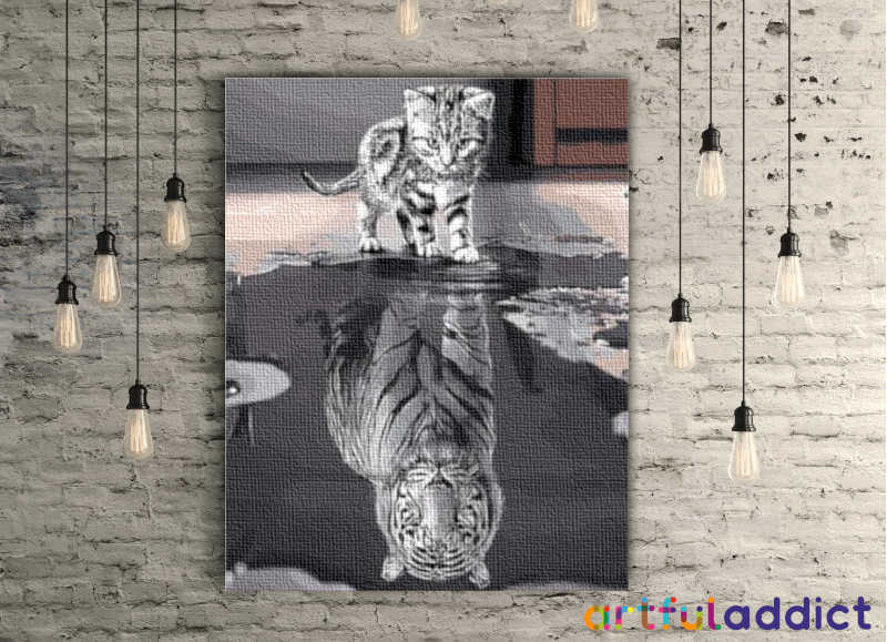 Tiger Reflection - Artful Addict Paint By Numbers
