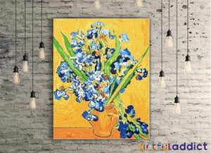 Van Gogh Vase With Irises - Artful Addict Paint By Numbers Kits