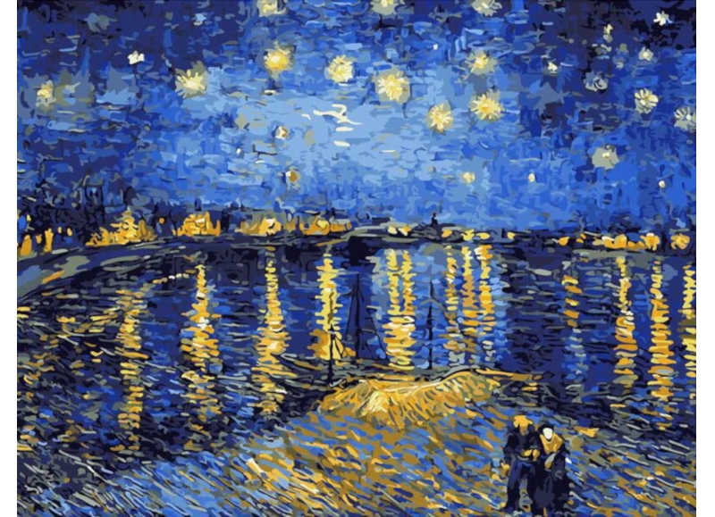 Van Gogh Starry Night Over the Rhone - Artful Addict Paint By Numbers Kits