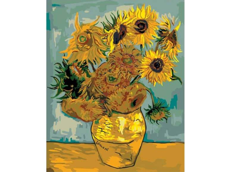 Van Gogh Sunflowers - Artful Addict Paint By Numbers