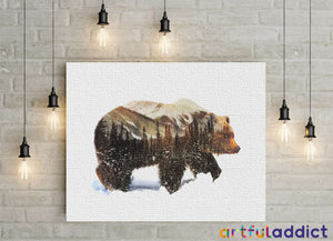 Winter Bear - Artful Addict Paint By Numbers Kits