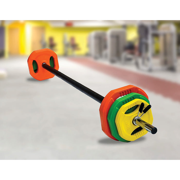20kg Standard Rubber Coloured Barbell