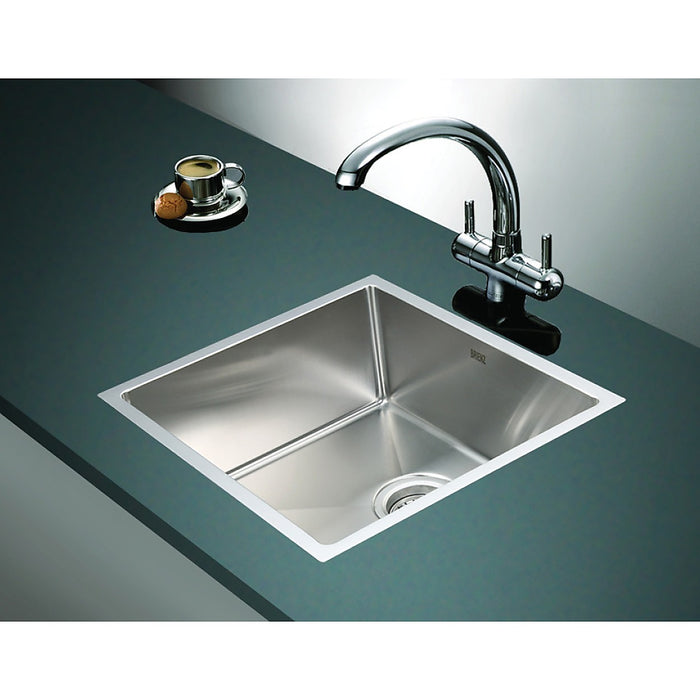 490x440mm Stainless Steel Single Bowl Sink with Round Waste