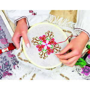 Embroidery Starter Kit Cross Stitch Kit DIY Hand Craft Stitch 50 Color Kit