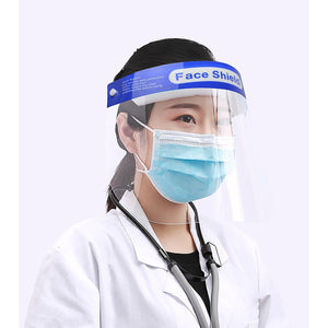 6x Safety Full Face Shield Clear Guard Protector Mask Anti-Fog + Elastic Head Band