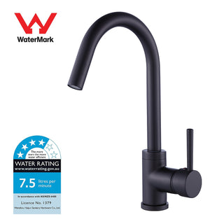 Kitchen Mixer Tap Faucet Basin Laundry Sink - BLACK