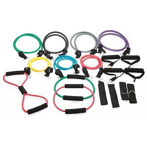 19PC Resistance Exercise Fitness Bands Tubes Kit Yoga Set