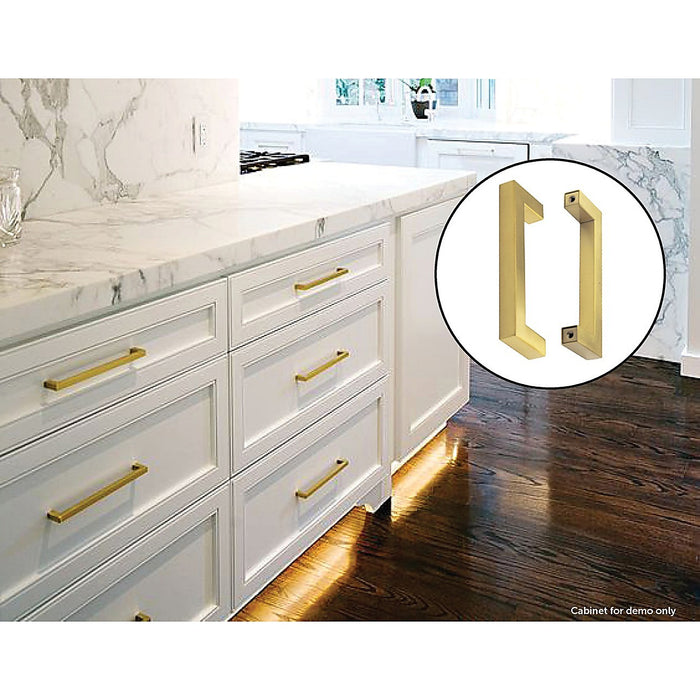 15x Brushed Brass Drawer Pulls Kitchen Cabinet Handles - Gold Finish 128mm