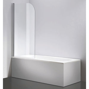 180° Pivot Door 6mm Safety Glass Bath Shower Screen By Della Francesca - 80 x 140cm