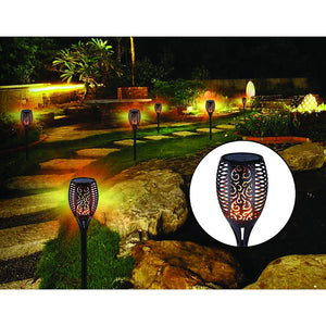 10 Pack Solar Torch Lights 96 LED Flickering Lighting Dancing Flame Garden Lamp