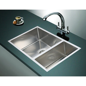 1.2mm Handmade Double Stainless Steel Sink with Waste - 715x440mm