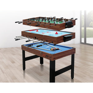 4FT 3-in-1 Games Foosball Soccer Hockey Pool Table Table