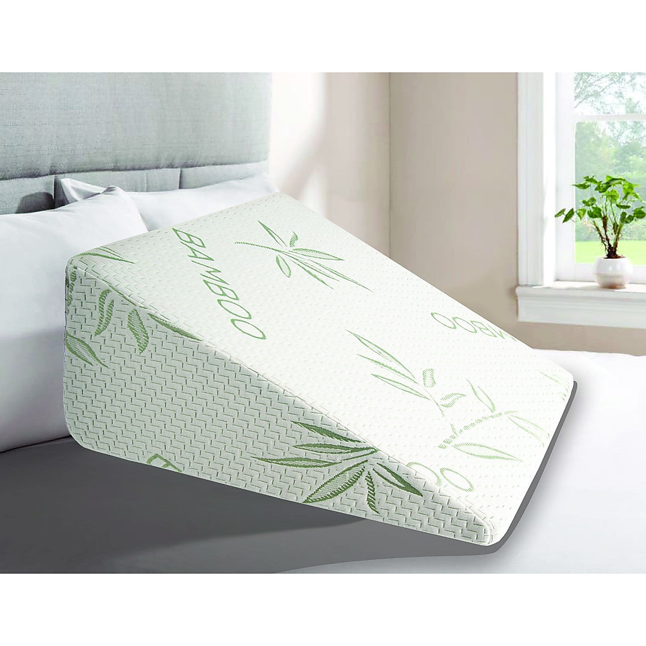 Cool Gel Memory Foam Bed Wedge Pillow Cushion Neck Back Support Sleep With Cover Home Lifestyle Manchester