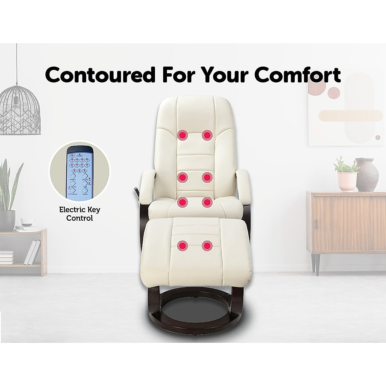 Groovy Pu Leather Deluxe Massage Chair Recliner Ottoman Lounge Remote Pdpeps Interior Chair Design Pdpepsorg