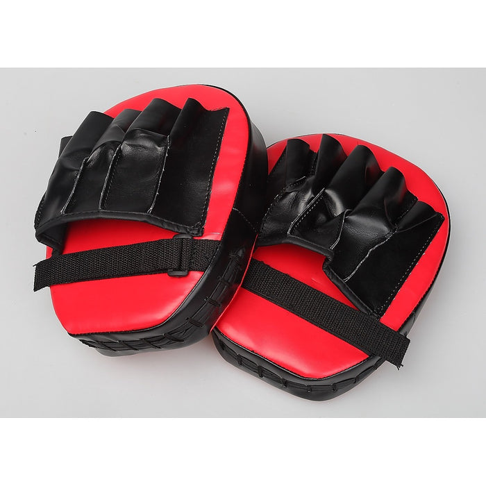 2 x Thai Boxing Punch Focus Gloves Kit Training Red & Black