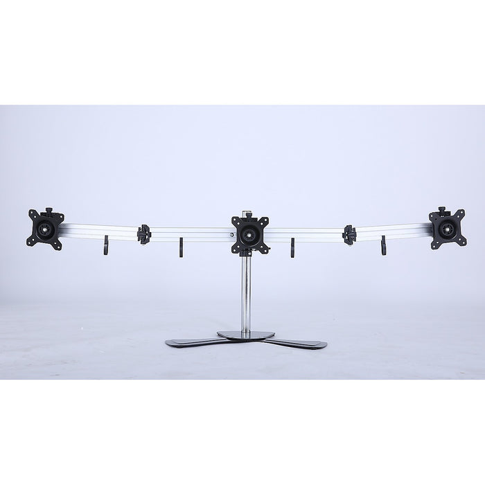 Triple Tilt LCD Monitor Mount Freestanding Desktop Stand
