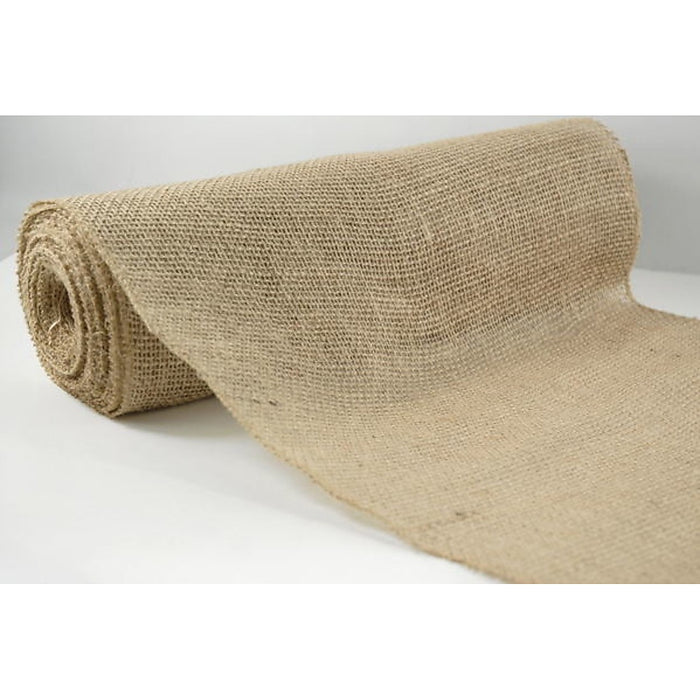 10m Hessian Burlap Roll Vintage Rustic Natural Wedding Table Runner Decorations