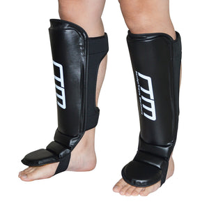 Gel Shin Instep Leg Kick Guards MMA UFC  Muay Thai Boxing Foot Pads Large