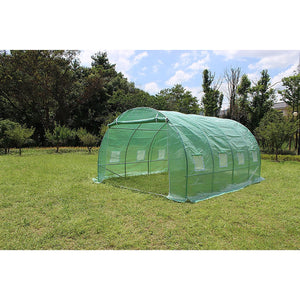 Walk In PE Greenhouse Tunnel Plant Garden Storage Shed - 4 x 3 x 2m