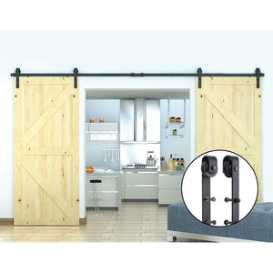 3.6m Black Sliding Barn Door Hardware