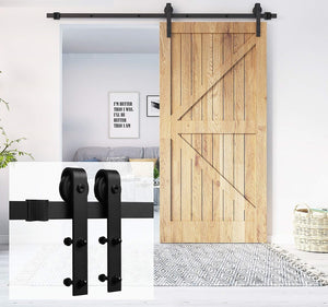 1.8m Sliding Barn Door Hardware Heavy Duty Sturdy Kit