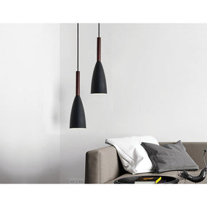 Black Pendant Lighting Kitchen Lamp Modern Pendant Light Bar Wood Ceiling Lights