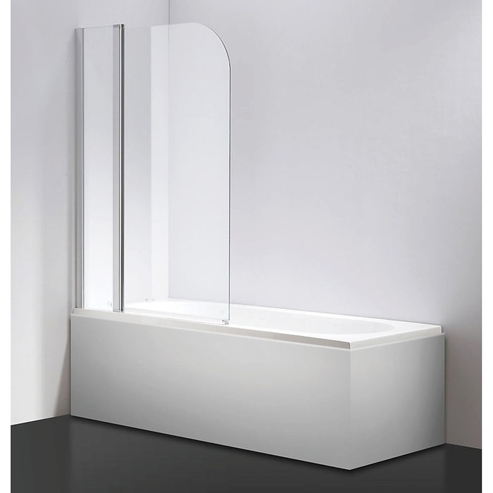 180° Chrome Pivot Door 6mm Safety Glass Bath Shower Screen By Della Francesca - 100 x 140cm