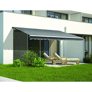 5.0 x 2.5m Outdoor Folding Arm Retractable Sunshade Awning