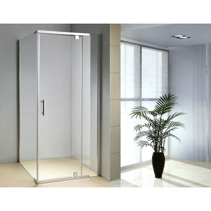 900 x 900 x 1900mm Framed Safety Glass Pivot Door Shower Screen in Chrome