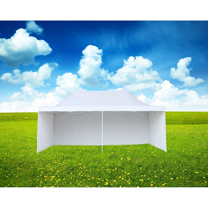 3x6m Popup Gazebo Party Tent Marquee - White