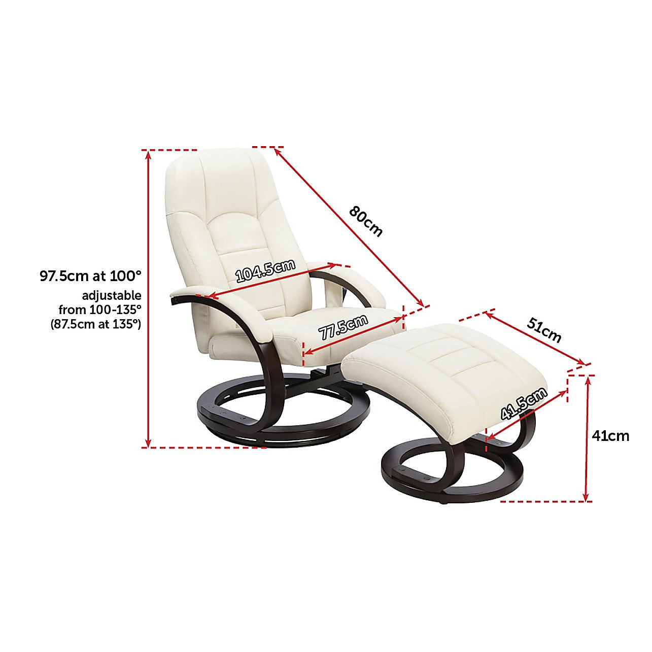 Pleasant Pu Leather Deluxe Massage Chair Recliner Ottoman Lounge Remote Pdpeps Interior Chair Design Pdpepsorg