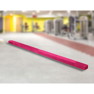 2.45m (8FT) Pink Gymnastics Folding Balance Beam in Synthetic Suede