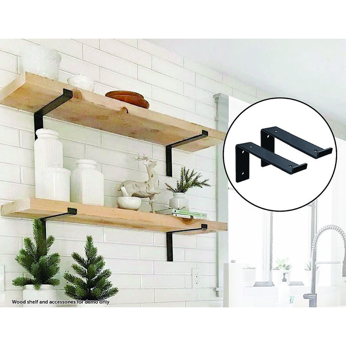 Floating Wall Shelf Brackets Heavy Duty Rustic Industrial 4-Pack
