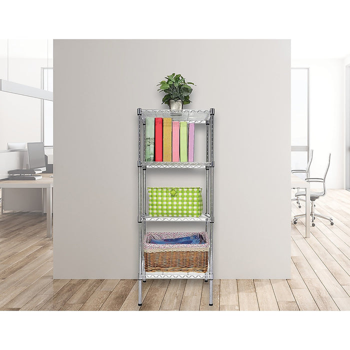 Modular Chrome Wire Storage Shelf 35 x 35cm Steel Shelving