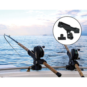4PC Kayak Boat Fishing Pole Rod Holder Tackle Kit  Adjustable Side Rail Mount