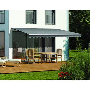5.0 x 3.0m Outdoor Folding Arm Retractable Sunshade Awning
