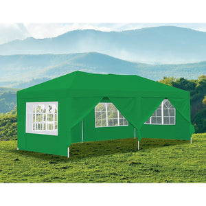 3x6m Gazebo Outdoor Marquee Tent Canopy Green