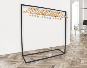 Commercial Clothing Garment Rack Retail Shop in Black