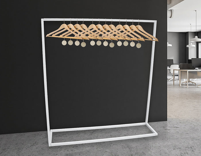 Commercial Clothing Garment Rack Retail Shop in White