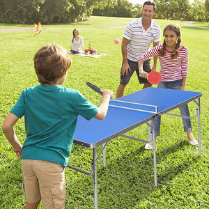 152cm Portable Tennis Table, Folding Ping Pong Table Game Set