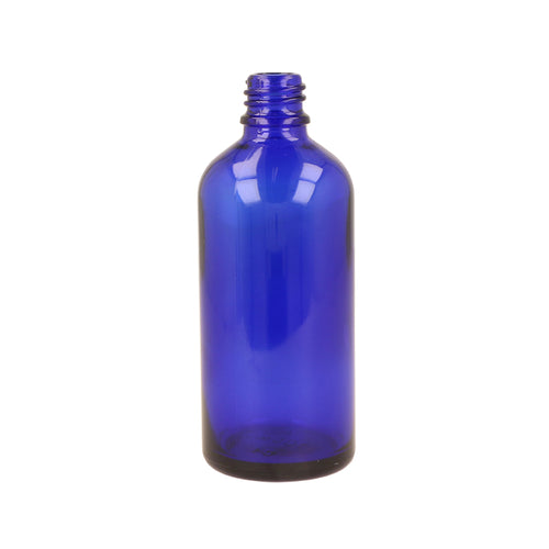 Blue Glass Tall Dropper Bottle