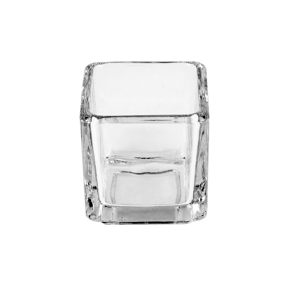 8cl Clear Square Candle Glass