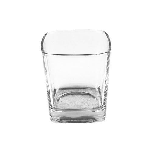 30cl Clear Square Candle Glass