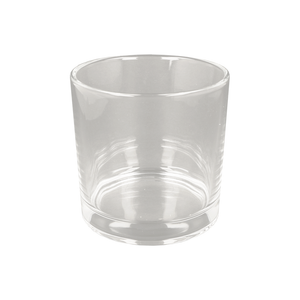 Clear Deep Tub Candle Glass