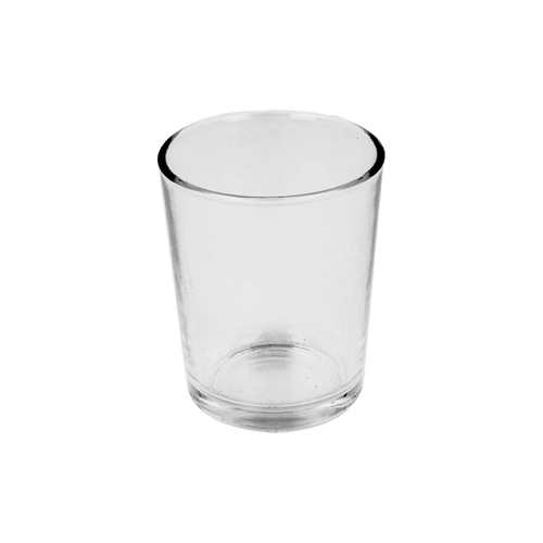 10cl Clear Conique Candle Glass